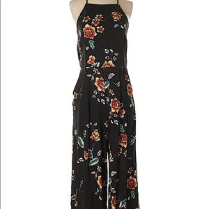 Xhilaration Cropped Floral Jumpsuit